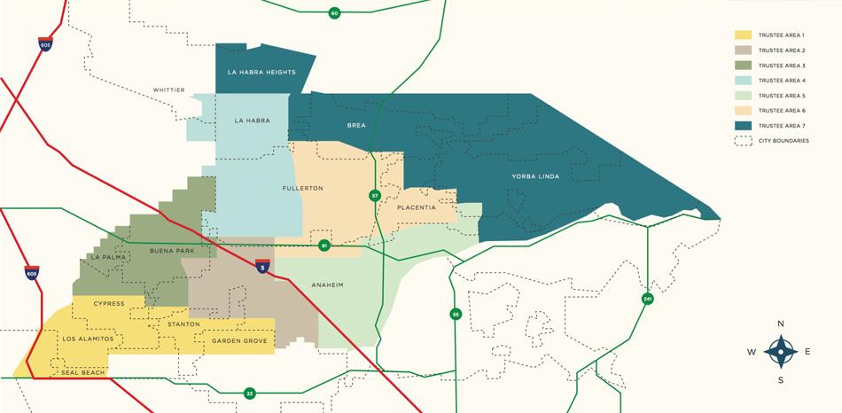 Board of Trustees Area Map